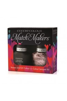 Cuccio Match Makers - Veneer LED/UV Colour & Colour Lacquer - Fever of Love - 0.43oz / 13ml each