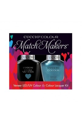Cuccio Match Makers - Veneer LED/UV Colour & Colour Lacquer - Fountains Of Versailles - 0.43oz / 13ml each