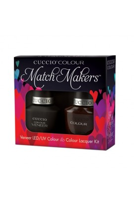 Cuccio Match Makers - Veneer LED/UV Colour & Colour Lacquer - French Pressed for Time - 0.43oz / 13ml each