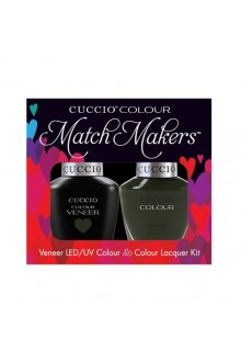 Cuccio Match Makers - Veneer LED/UV Colour & Colour Lacquer - Glasgow Nights - 0.43oz / 13ml each