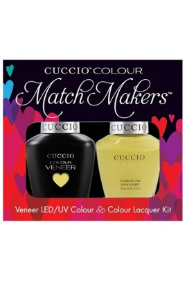 Cuccio Match Makers - Veneer LED/UV Colour & Colour Lacquer - Good Vibrations - 0.43oz / 13ml each