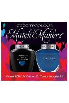 Cuccio Match Makers - Veneer LED/UV Colour & Colour Lacquer - Color Cruise Collection - Got The Navy Blues - 0.43oz / 13ml each