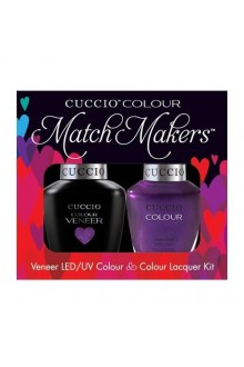 Cuccio Match Makers - Veneer LED/UV Colour & Colour Lacquer - Grape To See You - 0.43oz / 13ml