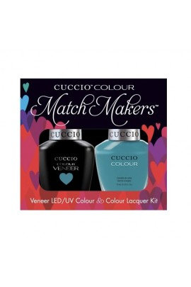 Cuccio Match Makers - Veneer LED/UV Colour & Colour Lacquer - Grecian Sea - 0.43oz / 13ml each