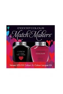 Cuccio Match Makers - Veneer LED/UV Colour & Colour Lacquer - Heart and Seoul - 0.43oz / 13ml each