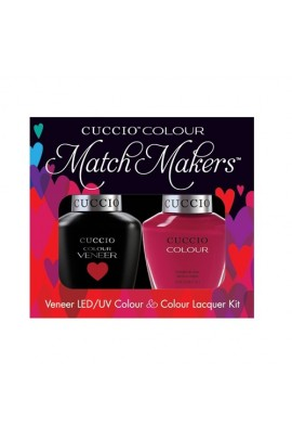 Cuccio Match Makers - Veneer LED/UV Colour & Colour Lacquer - Heart and Seoul - 0.43oz / 13ml each