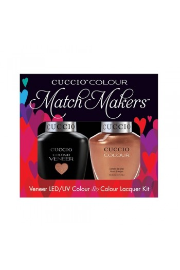 Cuccio Match Makers - Veneer LED/UV Colour & Colour Lacquer - Holy Toledo - 0.43oz / 13ml each