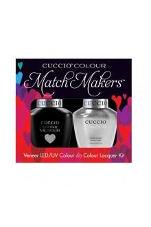 Cuccio Match Makers - Veneer LED/UV Colour & Colour Lacquer - Hong Kong Harbor - 0.43oz / 13ml each