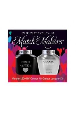 Cuccio Match Makers - Veneer LED/UV Colour & Colour Lacquer - Hong Kong Harbor - 0.43oz / 13ml each