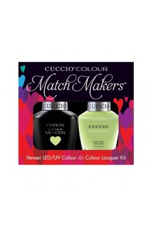 Cuccio Match Makers - Veneer LED/UV Colour & Colour Lacquer - In the Key of Lime - 0.43oz / 13ml each