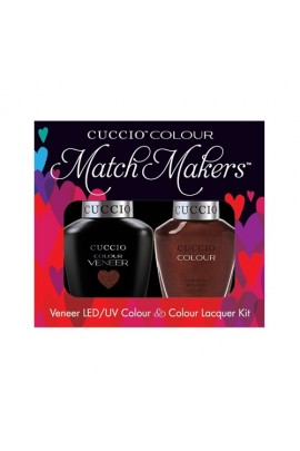 Cuccio Match Makers - Veneer LED/UV Colour & Colour Lacquer - It's No Istanbul - 0.43oz / 13ml each