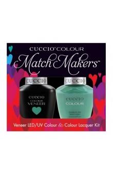 Cuccio Match Makers - Veneer LED/UV Colour & Colour Lacquer - Jakarta Jade - 0.43oz / 13ml each
