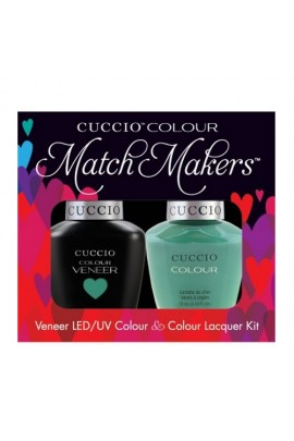 Cuccio Match Makers - Veneer LED/UV Colour & Colour Lacquer - Jakarta Jade - 0.43oz / 13ml each
