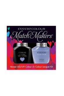 Cuccio Match Makers - Veneer LED/UV Colour & Colour Lacquer - Jamaica Me Crazy - 0.43oz / 13ml each