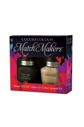 Cuccio Match Makers - Veneer LED/UV Colour & Colour Lacquer - Java Va Voom - 0.43oz / 13ml each