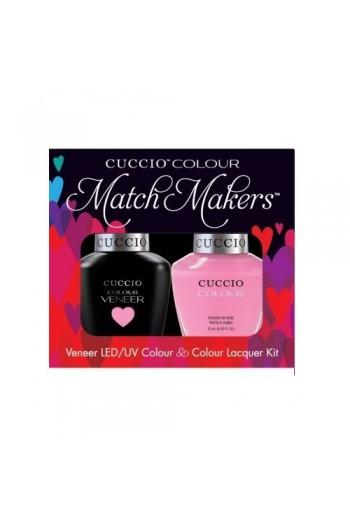 Cuccio Match Makers - Veneer LED/UV Colour & Colour Lacquer - Kyoto Cherry Blossoms - 0.43oz / 13ml each