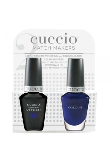Cuccio Match Makers - Veneer LED/UV Colour & Colour Lacquer - Lauren Blucall - 0.43oz / 13ml each