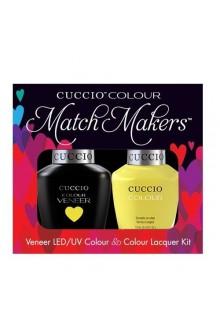 Cuccio Match Makers - Veneer LED/UV Colour & Colour Lacquer - Lemon Drop Me a Lime - 0.43oz / 13ml each