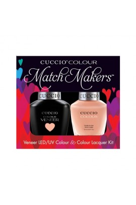 Cuccio Match Makers - Veneer LED/UV Colour & Colour Lacquer - Life's a Peach - 0.43oz / 13ml each