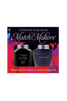 Cuccio Match Makers - Veneer LED/UV Colour & Colour Lacquer - London Underground - 0.43oz / 13ml each
