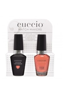 Cuccio Match Makers - Veneer LED/UV Colour & Colour Lacquer - Long Island - 0.43oz / 13ml each