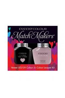 Cuccio Match Makers - Veneer LED/UV Colour & Colour Lacquer - Longing For London - 0.43oz / 13ml each