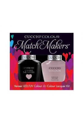 Cuccio Match Makers - Veneer LED/UV Colour & Colour Lacquer - Longing For London - 0.43oz / 13ml each