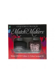 Cuccio Match Makers - Veneer LED/UV Colour & Colour Lacquer - Love Potion no.9 - 0.43oz / 13ml each
