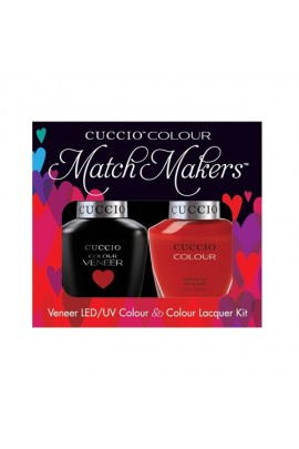 Cuccio Match Makers - Veneer LED/UV Colour & Colour Lacquer - Maine Lobster - 0.43oz / 13ml each