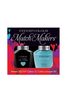 Cuccio Match Makers - Veneer LED/UV Colour & Colour Lacquer - Make a Wish in Rome - 0.43oz / 13ml each