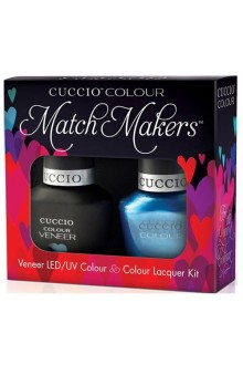 Cuccio Match Makers - Veneer LED/UV Colour & Colour Lacquer - Making Waves - 0.43oz / 13ml each