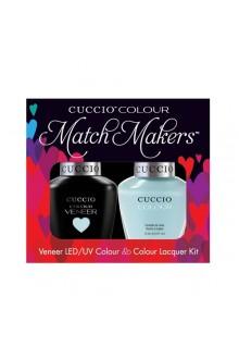 Cuccio Match Makers - Veneer LED/UV Colour & Colour Lacquer - Meet Me in Mykonos - 0.43oz / 13ml each