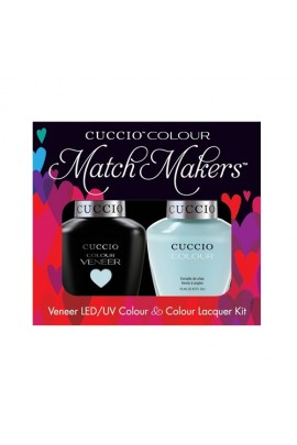 Cuccio Match Makers - Veneer LED/UV Colour & Colour Lacquer - Meet Me in Mykonos - 0.43oz / 13ml each