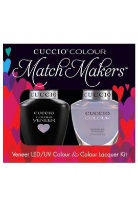 Cuccio Match Makers - Veneer LED/UV Colour & Colour Lacquer - Color Cruise Collection - Message In A Bottle - 0.43oz / 13ml each