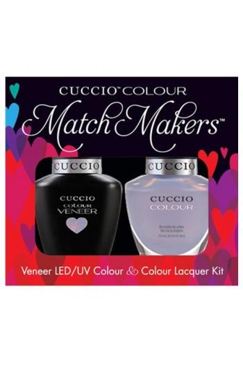Cuccio Match Makers - Veneer LED/UV Colour & Colour Lacquer - Color Cruise Collection - Message In A Bottle - 0.43oz / 13ml each