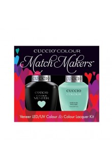 Cuccio Match Makers - Veneer LED/UV Colour & Colour Lacquer - Mint Condition - 0.43oz / 13ml each