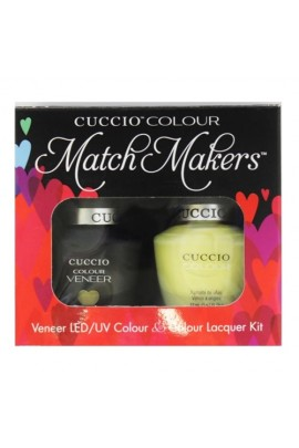 Cuccio Match Makers - Veneer LED/UV Colour & Colour Lacquer - Mojito - 0.43oz / 13ml each