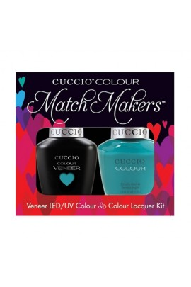 Cuccio Match Makers - Veneer LED/UV Colour & Colour Lacquer - Muscle Beach - 0.43oz / 13ml each
