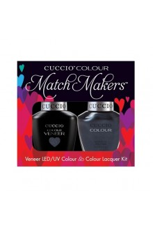 Cuccio Match Makers - Veneer LED/UV Colour & Colour Lacquer - Nantucket Navy - 0.43oz / 13ml each
