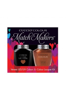 Cuccio Match Makers - Veneer LED/UV Colour & Colour Lacquer - Never Can Say Mumbai - 0.43oz / 13ml each
