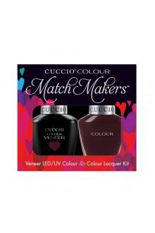 Cuccio Match Makers - Veneer LED/UV Colour & Colour Lacquer - Nights In Napoli - 0.43oz / 13ml each