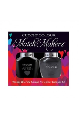Cuccio Match Makers - Veneer LED/UV Colour & Colour Lacquer - Oh My Prague - 0.43oz / 13ml each