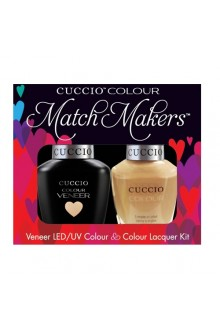 Cuccio Match Makers - Veneer LED/UV Colour & Colour Lacquer - Oh Naturale 6174 - 0.43oz / 13ml each