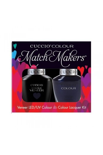 Cuccio Match Makers - Veneer LED/UV Colour & Colour Lacquer - On The Nile Blue - 0.43oz / 13ml each