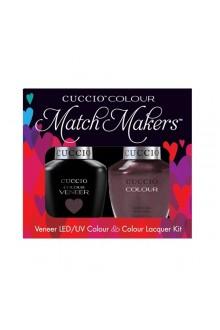 Cuccio Match Makers - Veneer LED/UV Colour & Colour Lacquer - One Night In Bangkok - 0.43oz / 13ml each