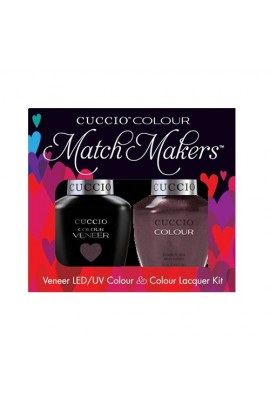 Cuccio Match Makers - Veneer LED/UV Colour & Colour Lacquer - One Night In Bangkok - 0.43oz / 13ml each