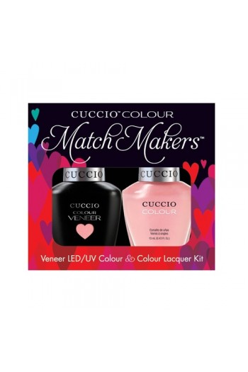 Cuccio Match Makers - Veneer LED/UV Colour & Colour Lacquer - Parisian Pastille - 0.43oz / 13ml each