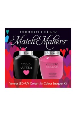 Cuccio Match Makers - Veneer LED/UV Colour & Colour Lacquer - Pink Cadillac - 0.43oz / 13ml each
