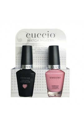 Cuccio Match Makers - Veneer LED/UV Colour & Colour Lacquer - Pink Lady - 0.43oz / 13ml each