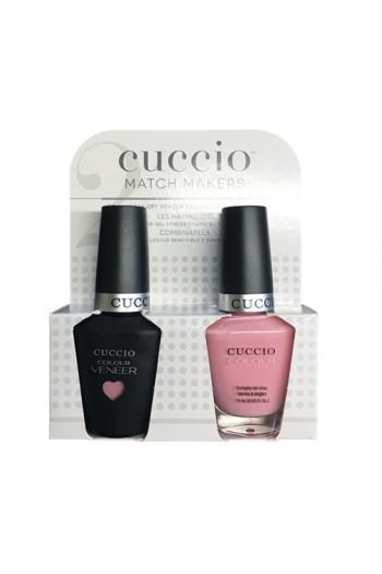 Cuccio Match Makers - Veneer LED/UV Colour & Colour Lacquer - Pink Lady - 0.43oz / 13ml each